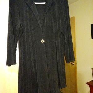 Asymmetrical hem dress jacket BLACK